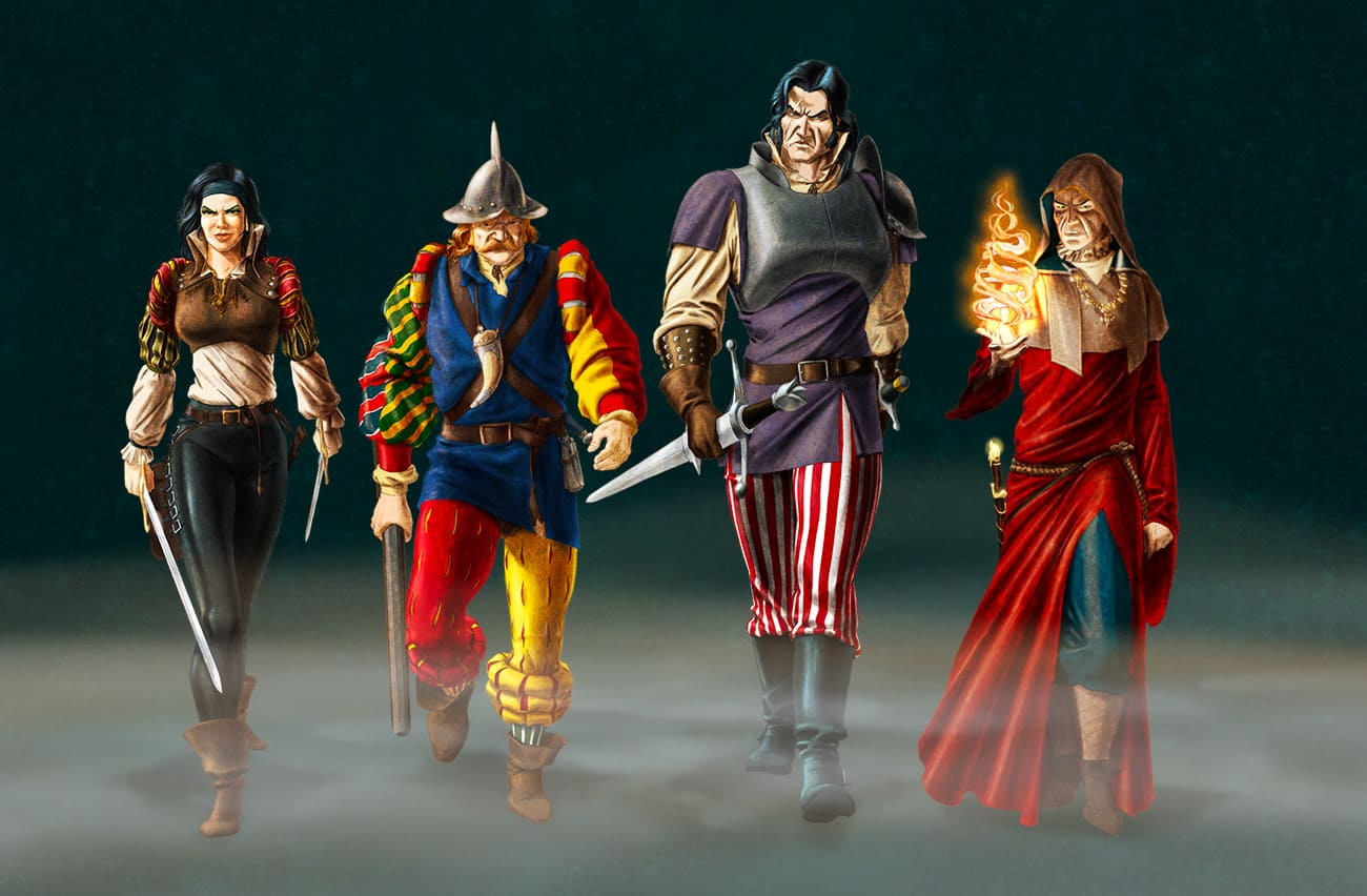 Demloc Board Game Characters