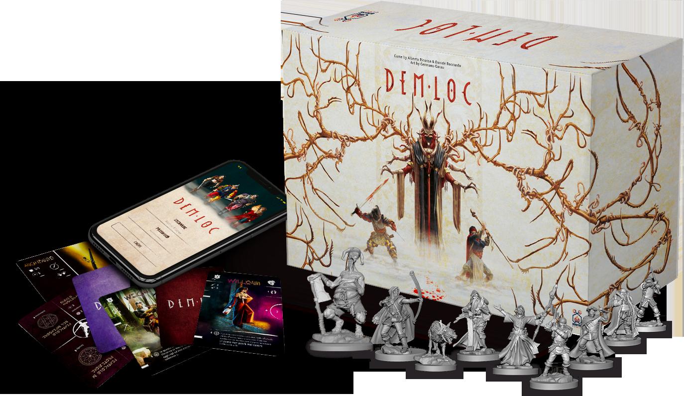 DemLoc Board Game - Bonfire Games - Kickstarter 2021
